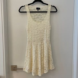 White lacy dress from Aritzia. Perfect for summer!